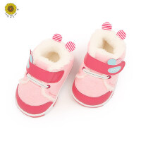 韩版宝宝软底学步鞋男女童加厚加绒保暖鞋子防滑棉鞋