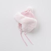【加绒】davebella戴维贝拉秋冬帽子 女宝宝针织保暖护耳帽DB6115