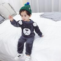 童装男童秋装套装儿童冬装洋气金丝绒帅气秋冬季韩版潮衣