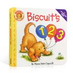 顺丰发货 英文原版绘本 Biscuit's 123 小饼干 纸板翻翻书 启蒙幼儿读物 0-3岁儿童绘本