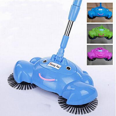 红兔子 家用手推式扫地机家用手持 不用电扫把吸尘器地板头发清洁宝缺货时可随机发货 粉色