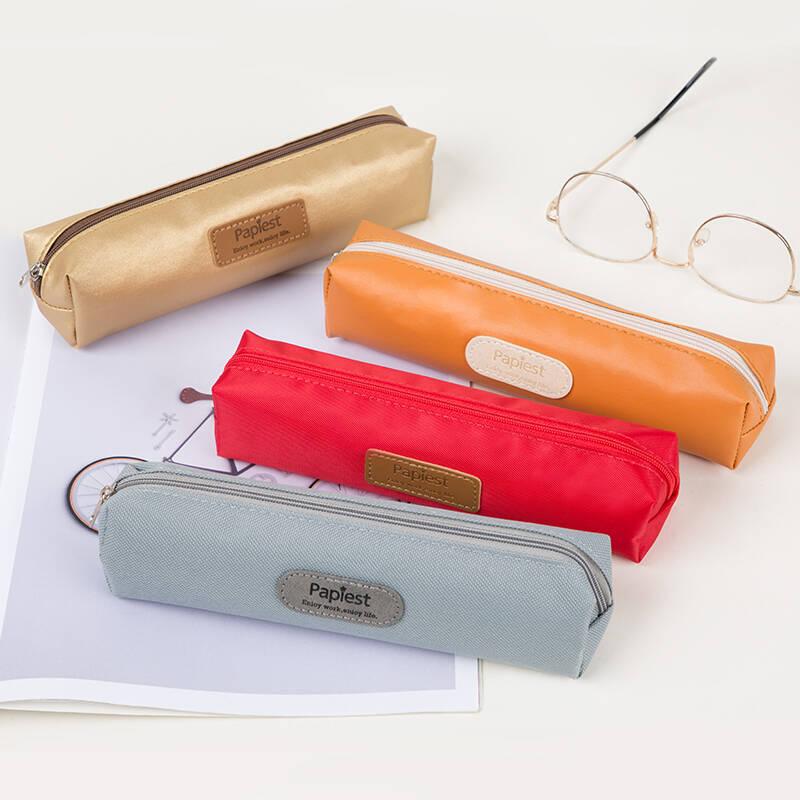 广博学生方形笔袋铅笔盒文具盒收纳袋 颜色随机单个装HBD02377