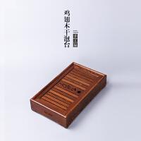 w思故轩功夫茶具鸡翅木茶盘嵌入式实木茶台整块茶海托盘干泡台CMZ1729