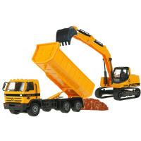 儿童合金工程车铲车挖掘车翻斗车搅拌车压路机叉车模型
