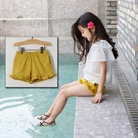 女童短裤外穿夏2017新款薄款中大童糖果色五分裤小女孩沙滩热裤子