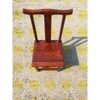 仿古木实木小椅子仿官帽椅餐椅 靠背椅椅矮凳子