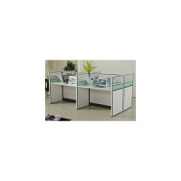 办公家具职员办公桌4/6人位简约现代办公桌椅组合屏风隔断工作桌