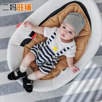 宝宝衣服薄款0-1-2岁儿童套装小孩纯棉上衣条纹连体背带裤两件套