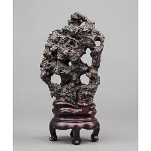 C476清《英石观赏石摆件》(英石观赏石摆件,造型自然天成,多面可赏,雅气十足)
