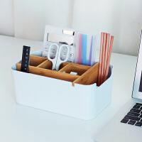 橙舍 多格・竹纤维收纳盒大号 家用多功能桌面收纳盒办公室文具分类置物收纳