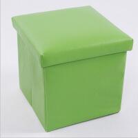 普润 PU皮收纳凳 储物凳 换鞋凳 收纳箱 绿色