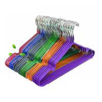 普润 纳米浸塑防滑衣架塑料干湿两用无痕衣架 晾衣架 衣服架衣服撑衣架 紫色10只装