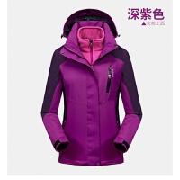 户外冬季冲锋衣男女三合一可拆卸两件套加绒加厚登山服潮牌外套新品