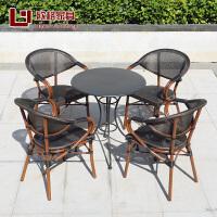 户外桌椅阳台藤椅三件套藤编咖啡厅桌椅室外庭院花园家具休闲腾椅