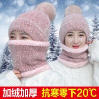 帽子女冬天加绒加厚骑车防风保暖护耳秋冬季时尚百搭韩版潮针织毛线