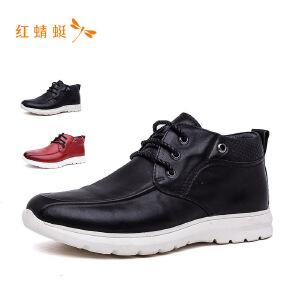 红蜻蜓男鞋新款绅士商务皮鞋男系带皮鞋