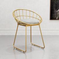 椅子北欧现代简约餐椅靠背休闲椅化妆椅铁艺咖啡桌椅ins凳子