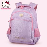 HelloKitty凯蒂猫 KT1093韩版可爱女小学生护脊减负书包 浅紫