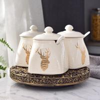 家居饰品调味罐厨房餐桌装饰品摆件房间新房欧式摆设陶瓷工艺品