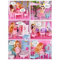 晴雪芭比洋娃娃套装礼盒女孩儿童玩具屋公主别墅城堡超大梦想豪宅