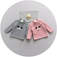 20180505033059984婴儿加绒上衣宝宝冬季T恤保暖内衣新生儿打底绒衫0-1岁3-6-9个月