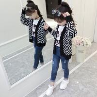 童装女童秋装开衫外套儿童春秋季毛衣大童韩版潮衣针织衫
