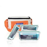 三光云彩Glasslock玻璃饭盒微波炉专用保鲜盒保温便当盒三件套GL17