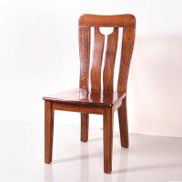 现代新中式实木餐椅全实木榆木餐厅家具家用餐椅靠背椅