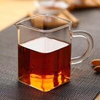 耐高温玻璃花茶茶海功夫茶具公道杯分茶器方形公杯工艺茶具250ML 杯子