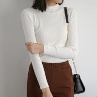 优雅菇凉当选 女士气质针织衫 半高领有型基础打底衫 多色可囤搭