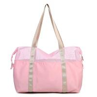 沙滩游泳包男女户外旅行包手提包防水多功能包时尚透气衣物收纳包
