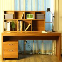 电脑桌台式家用简约办公桌双人书桌书柜组合学习桌写字桌