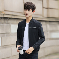 外套男韩版潮流修身帅气2018春季新款男士棒球领夹克衫男生棒球服