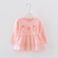 婴儿童长袖T恤春装女宝宝秋衣上衣体恤秋款女童打底衫1-3岁公主