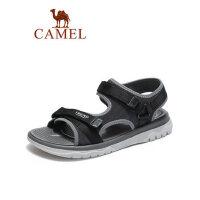 camel骆驼男鞋2019夏季新品户外时尚潮流织带凉鞋沙滩减震轻盈防滑鞋子