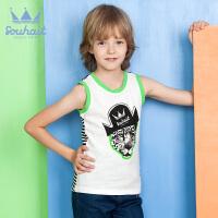 【3件3折:41元】水孩儿童装新款男童夏季背心运动背心
