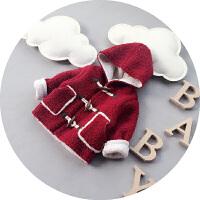 宝宝冬装外套上衣羊角婴儿棉衣羊羔毛男童棉袄儿童1-2-3岁潮