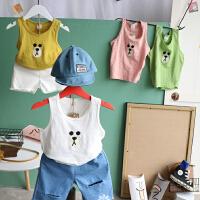 儿童纯棉背心宝宝卡通无袖打底T恤女童男童小孩工字汗衫夏上衣薄