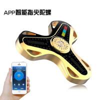 APP智能蓝牙手指螺旋减压指间玩具合金LED灯发光魔幻指尖成人陀螺