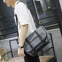12新款韩版男包手提包时尚经典帆布单肩斜跨包潮流防水耐磨休闲背包