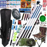 钓鱼竿套装组合 全套新手钓鱼杆超轻手竿海竿鱼具用品渔具套装 63件套 手竿5.4+6.3+6.3+海竿3.6套