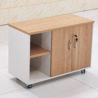 文件柜储物柜移动矮柜广州办公家具桌下落地木质柜子 浅胡桃