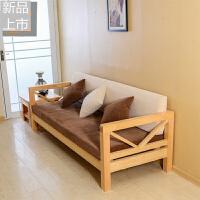 实木沙发组合实木头木质沙发大小户型三人双人转角客厅松木沙发定制 1+2+ 其他