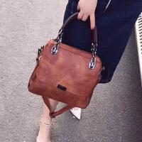 真皮女包2018新款韩版复古时尚牛皮手提包百搭大容量潮单肩斜挎包