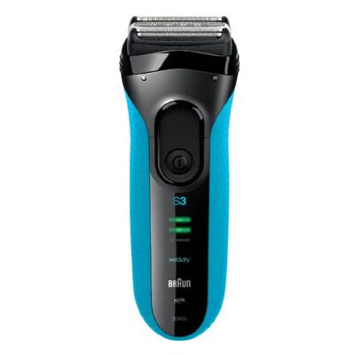 德国博朗男士电动剃须刀3系列3040s充电往复式水洗刮胡须刀 正品 支持* 温和剃须 精密齿梳技术 避免拉扯皮肤