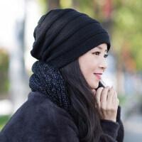 帽子女冬潮韩版百搭加绒保暖护耳针织毛线帽
