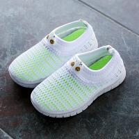 儿童单网鞋透气 夏季男童女童休闲鞋网面童鞋 小学生白色运动鞋