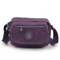 新款女包双层水洗布包百搭外出包斜挎防水布袋时尚中年妈妈旅行包