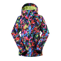 女士滑雪服 单板双板滑雪衣女款拼色冲锋衣1408