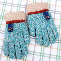 儿童手套幼儿园小学生加厚绒5-7岁帅气男孩子毛线手套男冬